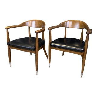 Mid-Century Modern Boling Chair Co. Sculptural Arm Chairs - a Pair For Sale