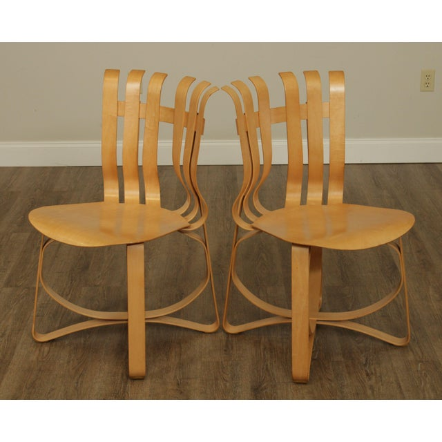 "Frank Gehry for Knoll Bent Wood Pair ""Har Trick"" Chairs For Sale In Philadelphia - Image 6 of 13"
