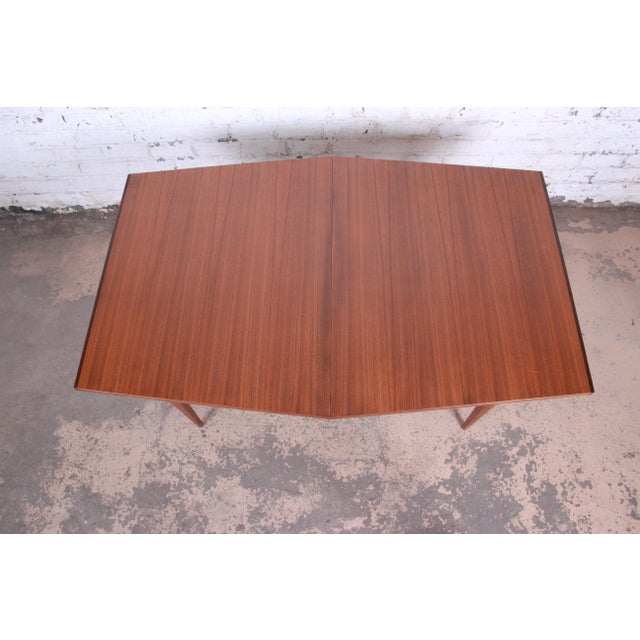 Kipp Stewart for Calvin American Design Foundation Walnut and Rosewood Boat-Shaped Extension Dining Table For Sale - Image 11 of 13