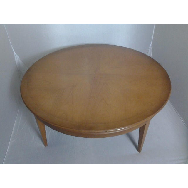 Mid-Century Round Cherry Coffee Table **** Sold**** - Image 2 of 4