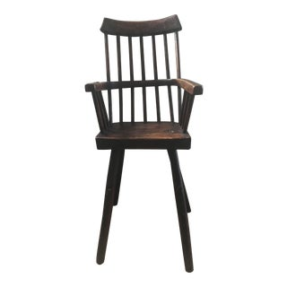 1900s Vintage Children's Primitive Early High Chair For Sale