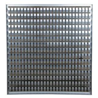 1960s Mid Century Modern Geometric Steel Art Panel For Sale