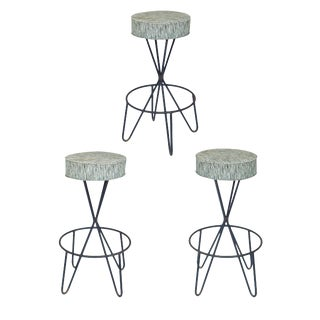 1960s Paul Tuttle Stools - Set of 3 For Sale