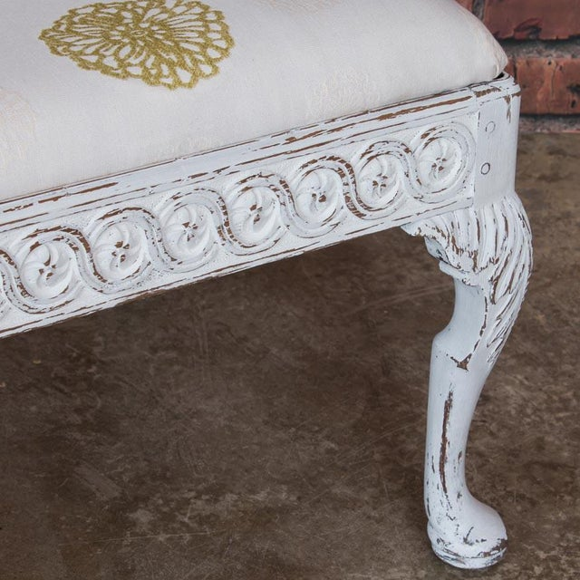 Early 19th Century Antique Light Gray Painted Swedish Gustavian Bench For Sale In Denver - Image 6 of 10