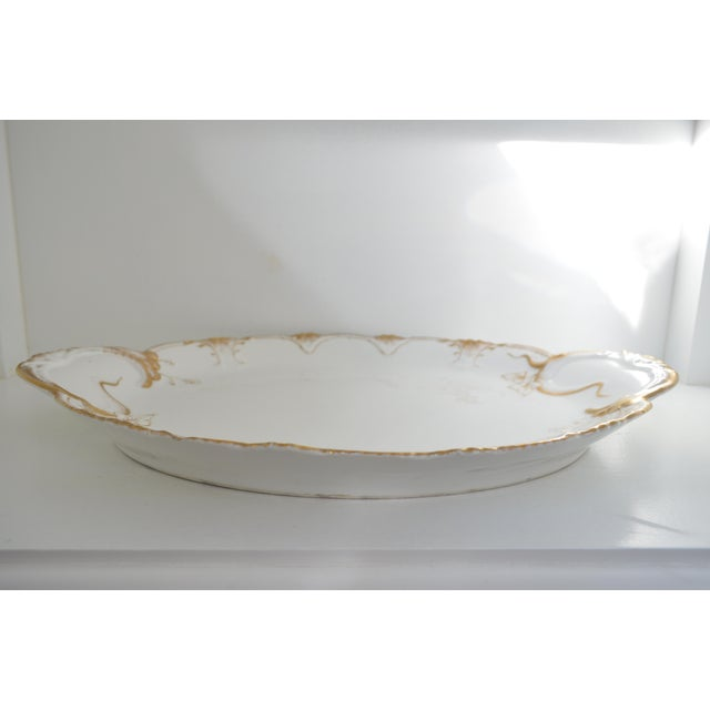 Elegant and substantial Theo Haviland, Limoges, France platter. Immaculate condition, Amazing condition from 1895.