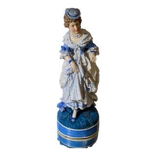 Antique Dresden German Porcelain Figure of a Woman For Sale