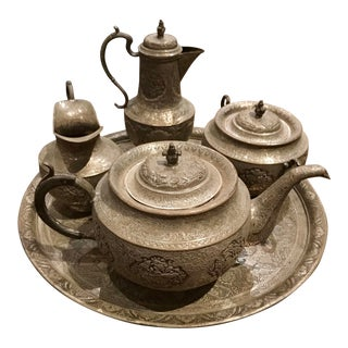 Mid 19th Century Persian Tea Set of 5 For Sale