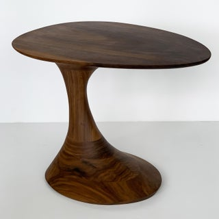 "Sculptural Solid Walnut ""Pedem"" Side Table Morten Stenbaek Preview"