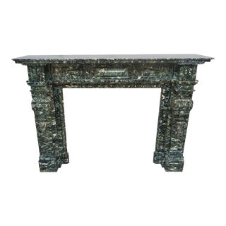 Verde Di Mare Green Marble Mantel For Sale
