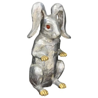 Whimsical Arthur Court Rabbit Hinged Ice Bucket or Wine Cooler For Sale