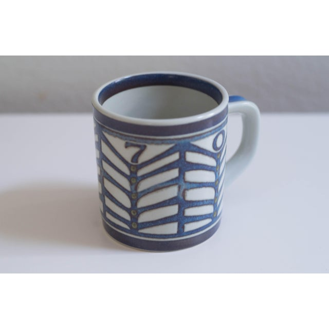 Blue Vintage Danish Royal Copenhagen Annual Mugs - Set of 14 For Sale - Image 8 of 11