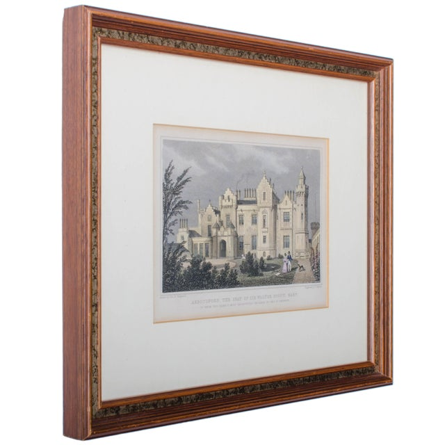 Victorian 1830 Engraving Abbotsford, The Seat of Walter Scott, Scotland For Sale - Image 3 of 4