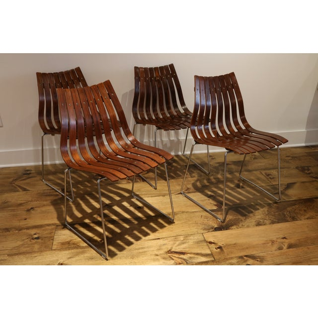 Skandia Rosewood Dining Chairs - Set of 4 - Image 2 of 10