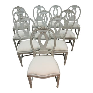 Swedish Gustavian Side Chairs - Set of 10 For Sale