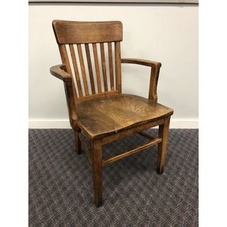 Vintage Solid Wood Banker Office Chair Preview