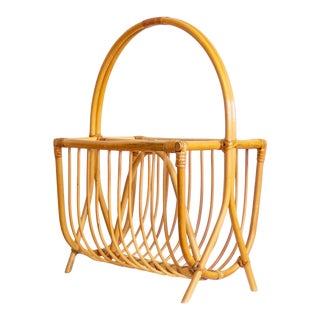 Bamboo Bentwood Magazine Rack | Storage Organization For Sale