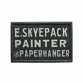 E. Skyepack Painter & Paperhanger Sign For Sale