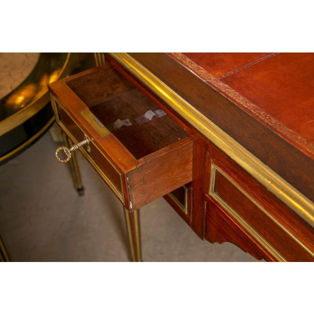 Louis XVI-Style Bronze Mounted Desk - Image 7 of 7