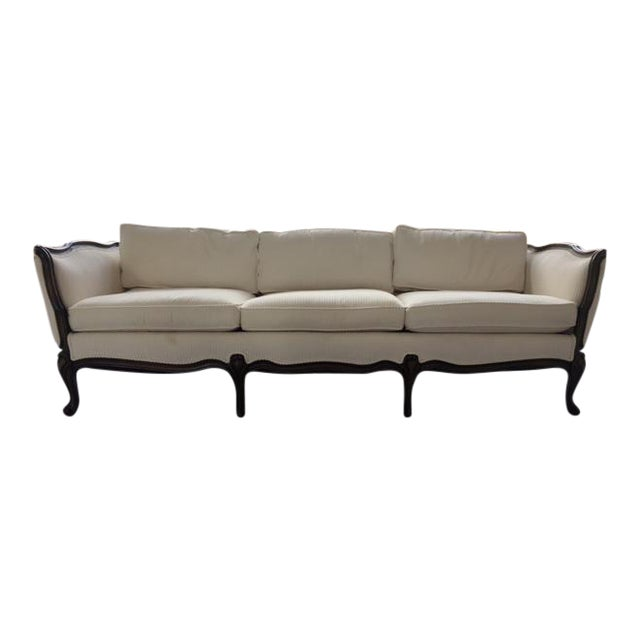 French Transitional Style Sofa - Image 1 of 6