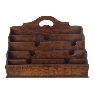 Antique English Desk Tidy or Organizer For Sale