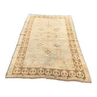 "Handmade Antique Turkish Carpet - 4'5"" x 7'7"""