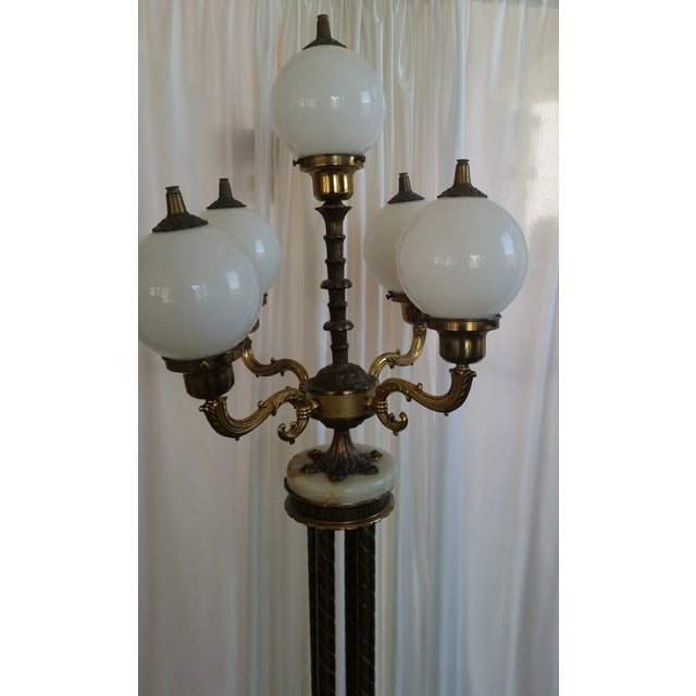 Mid-Century Saloon Bar Globe Floor Lamp - Image 4 of 11