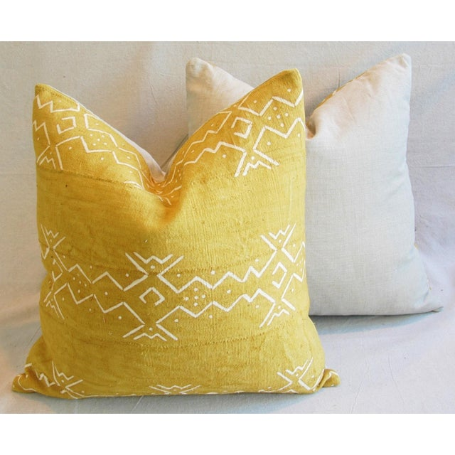 Handwoven Tribal Textile Feather/Down Pillows - Pair - Image 9 of 11
