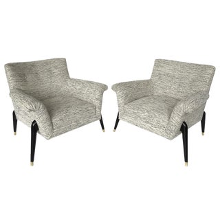 Pair of Italian Spider Leg Lounge Chairs
