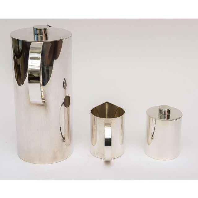 Silver Plate Swid Powell for Calvin Klein Three-Piece Coffee Service For Sale - Image 10 of 11