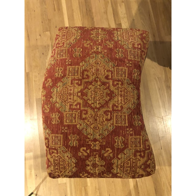 2000 - 2009 Sam Moore Upholstered Ottoman in Tapestry Fabric For Sale - Image 5 of 11