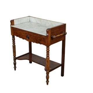 French Marble Top Washstand/Bar For Sale