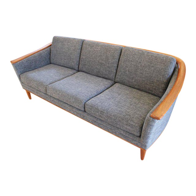 Mid-Century Modern Sofa With New Foam & Upholstery, 1960s For Sale
