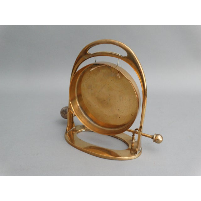 Art Deco Edwardian Brass Table Gong - Image 4 of 6