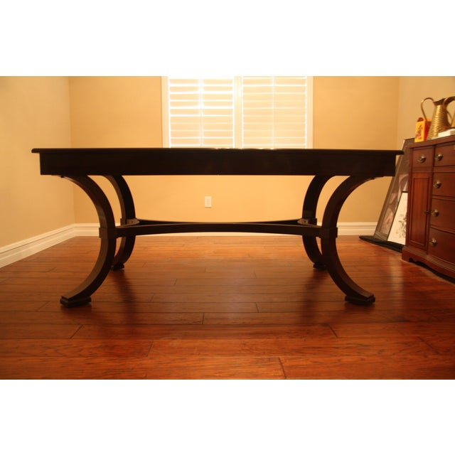 Williams-Sonoma Home Solid Mahogany Dining Table For Sale - Image 9 of 10