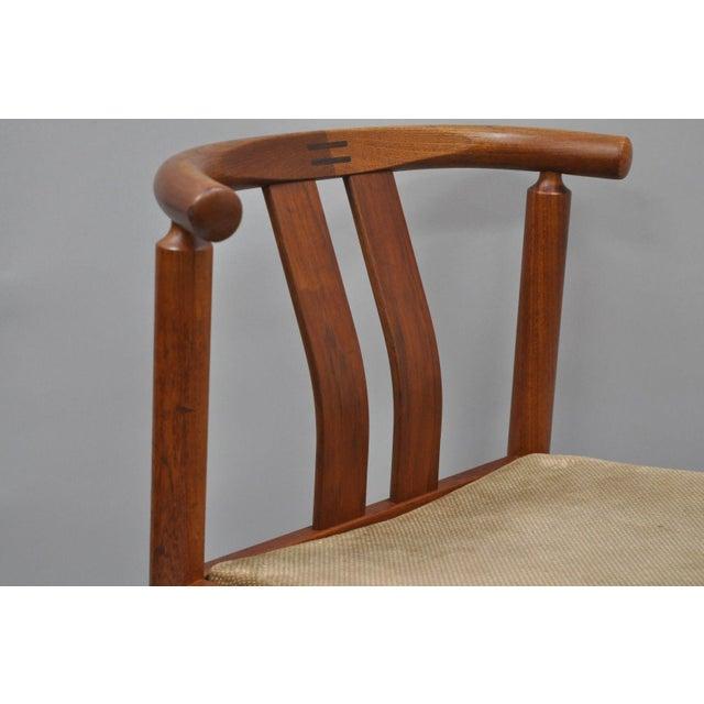 Danish Modern Uldum Danish Modern Teak Curved Back Rosewood Inlay Dining Chairs - Set of 6 For Sale - Image 3 of 12