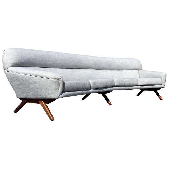 Illum Wikkelso-Mikael Laursen 4-Seat Sofa-Denmark, 1960s For Sale - Image 11 of 11