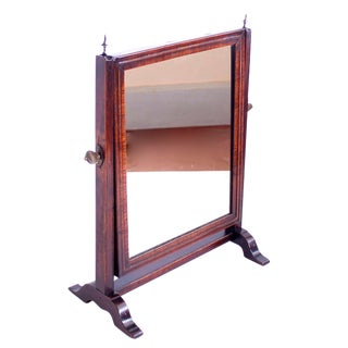 Early 19th Century English Walnut Dressing or Shaving Mirror For Sale
