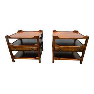 Century Furniture Mid-Century Side Tables - A Pair