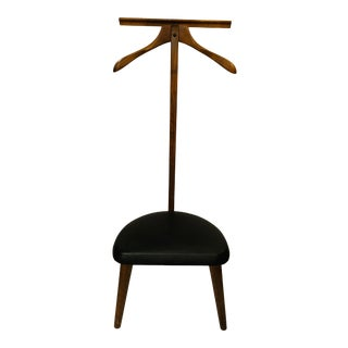 Marshall Furniture Company Valet Stand With Italian Glove Leather For Sale
