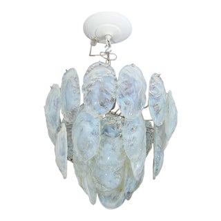 1970s Opaline Shell Chandelier
