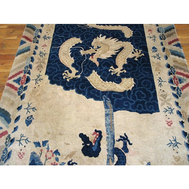 """Antique Chinese Peking Rug 4'2"""" X 6'10"""" For Sale - Image 4 of 11"""