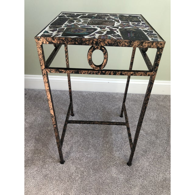 2000 - 2009 Tile Mosaic Side Table For Sale - Image 5 of 6