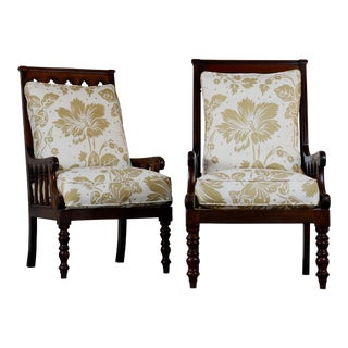 Pair of 19th Century Jacobean Gothic Armchairs For Sale
