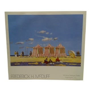 Frederick H. McDuff Gallery Poster, Venable/Neslage Gallery, Washington, DC For Sale