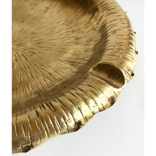 Mid-century cigar ashtray, with etched design. Made in Italy. Beautiful styling as a valet and catchall!