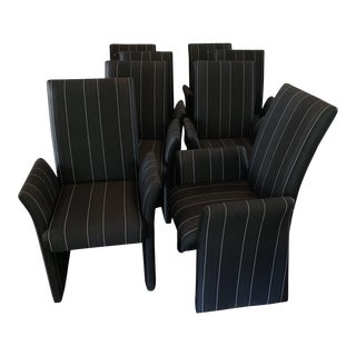 Tuxedo Vintage Dining Chairs - Set of 8 For Sale
