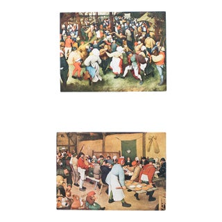 First Edition Wedding Lithographs by Bruegel, Set of 2 For Sale