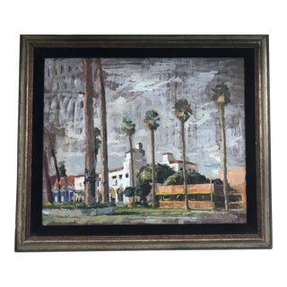 Oil Painting by Artist R McCarron of a California Landscape For Sale