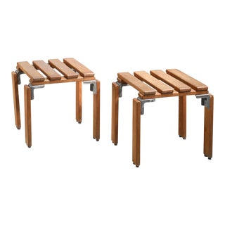 Georges Candilis & Anja Blomstedt Pair of 'Lattes' Stools, France, 1968 For Sale