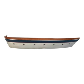 Realistic Wooden Boat Wall Shelf For Sale